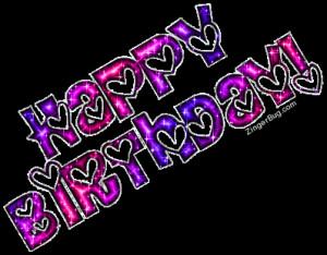 birthday quotes happy birthday birthday wish birthday cards glitter ...
