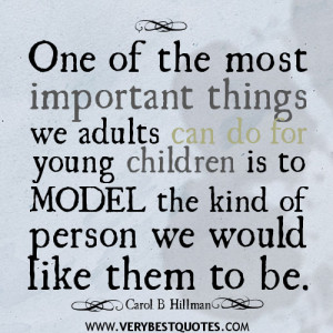 One of the most important things we adults can do for young children ...