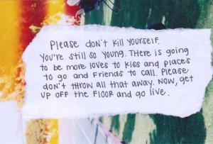 please don't kill yourself