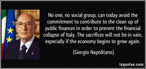 No one, no social group, can today avoid the commitment to contribute ...