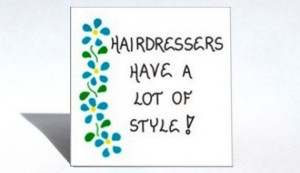 Holiday Gift For Your Hairstylist Magnet Hairdresser