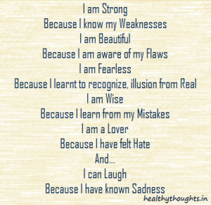 am Strong Because I know…