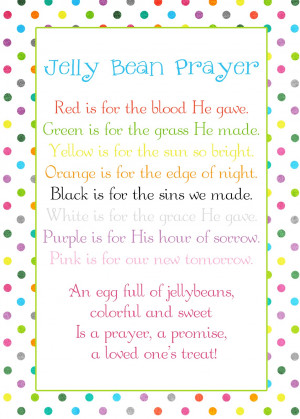 Jelly Bean Prayer poem - Easter freebie