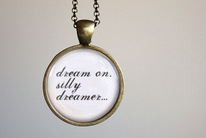 Rhiannon by Fleetwood Mac Stevie Nicks Pendant Necklace. Round art ...
