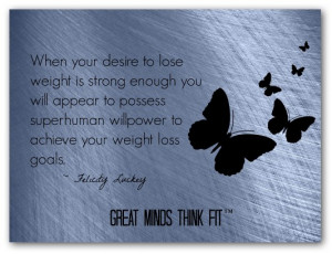 Think Thin Diet Affirmation: When my desire to lose weight is strong ...