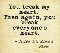 Elmo Quotes St. elmo's fire