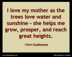 One good mother is worth a hundred schoolmasters. ~ George Herbert