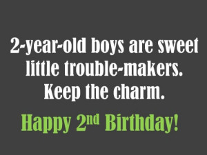 Cute birthday message for a 2-year-old boy
