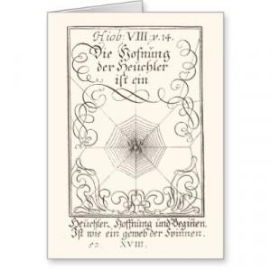 german_bible_rebus_book_of_job_spiders_web_card ...