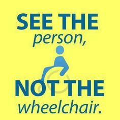 See the person, NOT the wheelchair. #spinabifida More