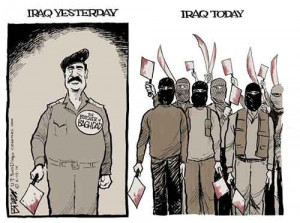Saddam Hussein vs ISIS, Breen Cartoon