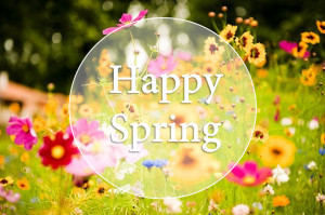 Happy spring! Flowers are blooming, birds are happily chirping and a ...