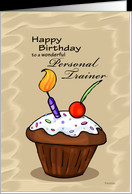 ... Cupcake - Birthday card for Personal Trainer card - Product #751254