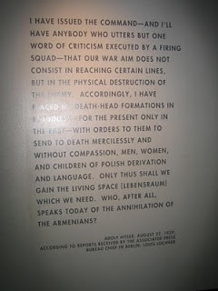 Fake Quote of Hitler in the Holocaust Museum