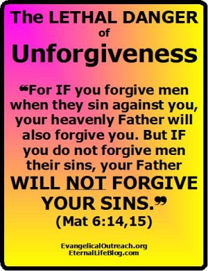 For if you forgive men when they sin against you, your heavenly ...