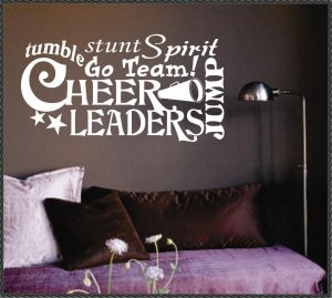 Vinyl Wall Quotes Collage Word Art Cheerleaders