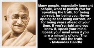 Gandhi - Speak the Truth