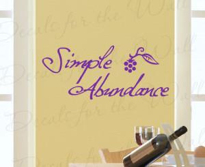 Simple Abundance Kitchen Wall Decal Sticker