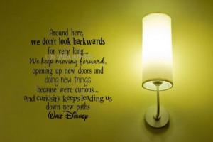 Walt Disney Quote Keep Moving Forward Vinyl Lettering 20x19 Wall ...