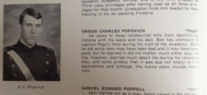 Gregg Popovich's Seeks 'Happiness' in Air Force Yearbook Entry
