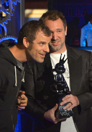 Matt Stone Matt Stone L and Trey Parker attend VGX 2013 on December