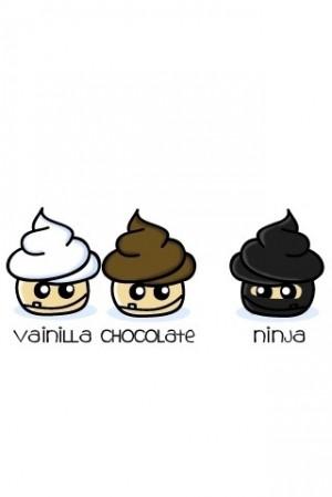 chocolate, cupcakes, cute, leuk!, ninja, vanilla