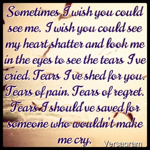 Tears..If they only knew..