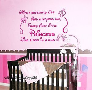 ... -Princess-Wall-quote-decals-stickershome-decor-kids-nursery-baby-art