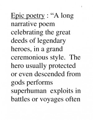 Epic Best Poems | Epic Poetry
