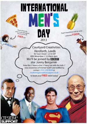 CoolTan Arts » International Men?s Day Event