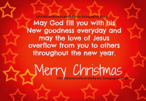 Merry Christmas to you. Free Christian card May you enjoy a Merry ...
