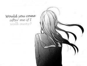 sad anime girl   Tumblr   We Heart It