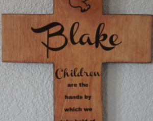 ... hands by which we take hold of heaven ) Quote Baptism Gift Boy Girl