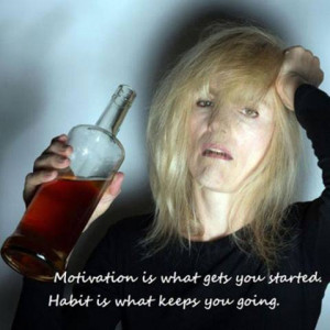 ... quotes with photos of people drinking? It would look like this