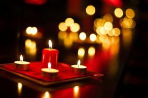 Candle light memorial.
