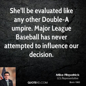ll be evaluated like any other Double-A umpire. Major League Baseball ...