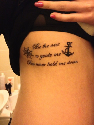 anchor tattoos with quotes for girls