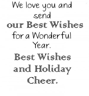 ... Our Best Wishes For A Wonderful Year. Best Wishes And Holiday Cheer
