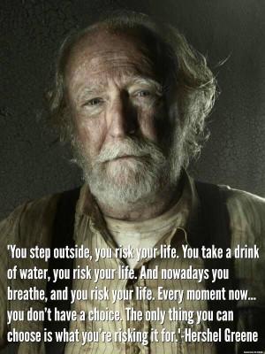 Hershel Quote—The Walking Dead
