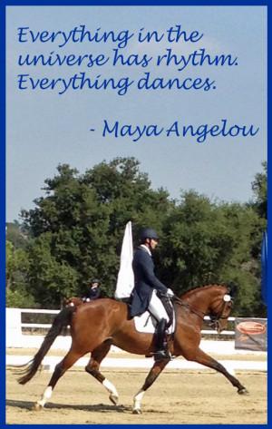 Dressage Quotes Angelou quote dressage horse