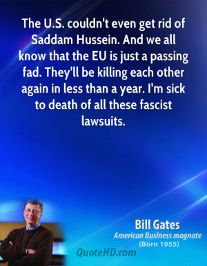 The U.S. couldn't even get rid of Saddam Hussein. And we all know that ...