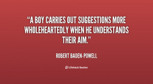 ... out suggestions more wholeheartedly when he understands their aim