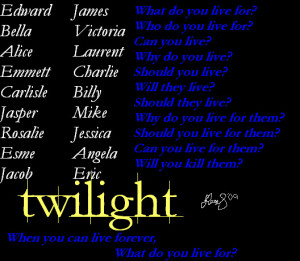 Twilight Name+Quote by YTTCsarah