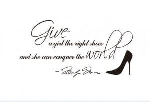 ... wall sticker - Marilyn Monroe give a girl shoes quote wall sticker