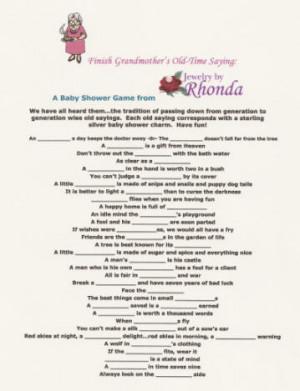 baby shower baby shower favors baby shower card sayings baby shower ...