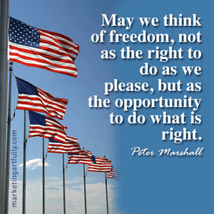 May we think of freedom, not as the right to do as we please, but as ...