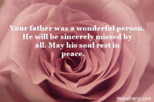 Sympathy Messages For Loss Of Father
