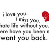 Wont You Back Quotes I Want You Back Quotes for Her