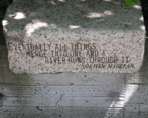 One of my favorite quotes carved into stone at the Ecotrust Building