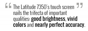 The screen produces 365 nits of brightness, more than the tablet ...